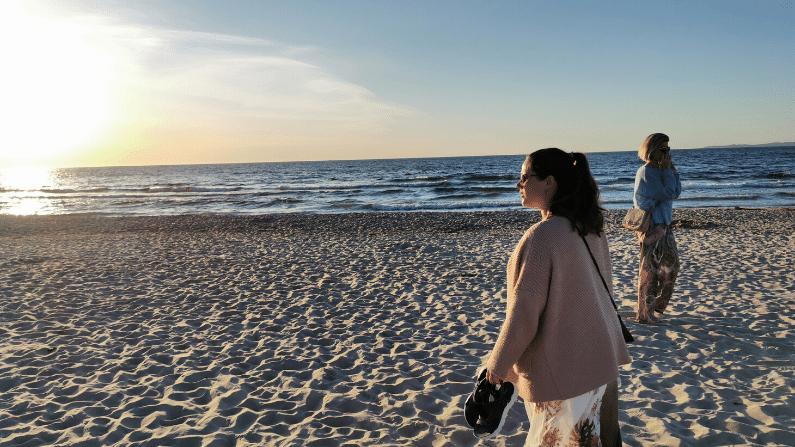 Lea på strand
