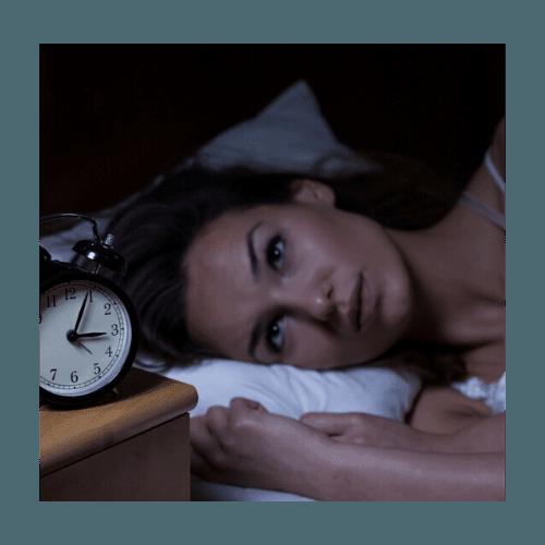 Kvinde med søvnløshed