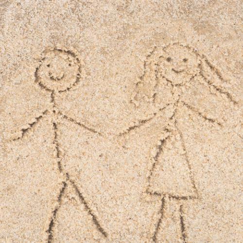 Tegning i sandet