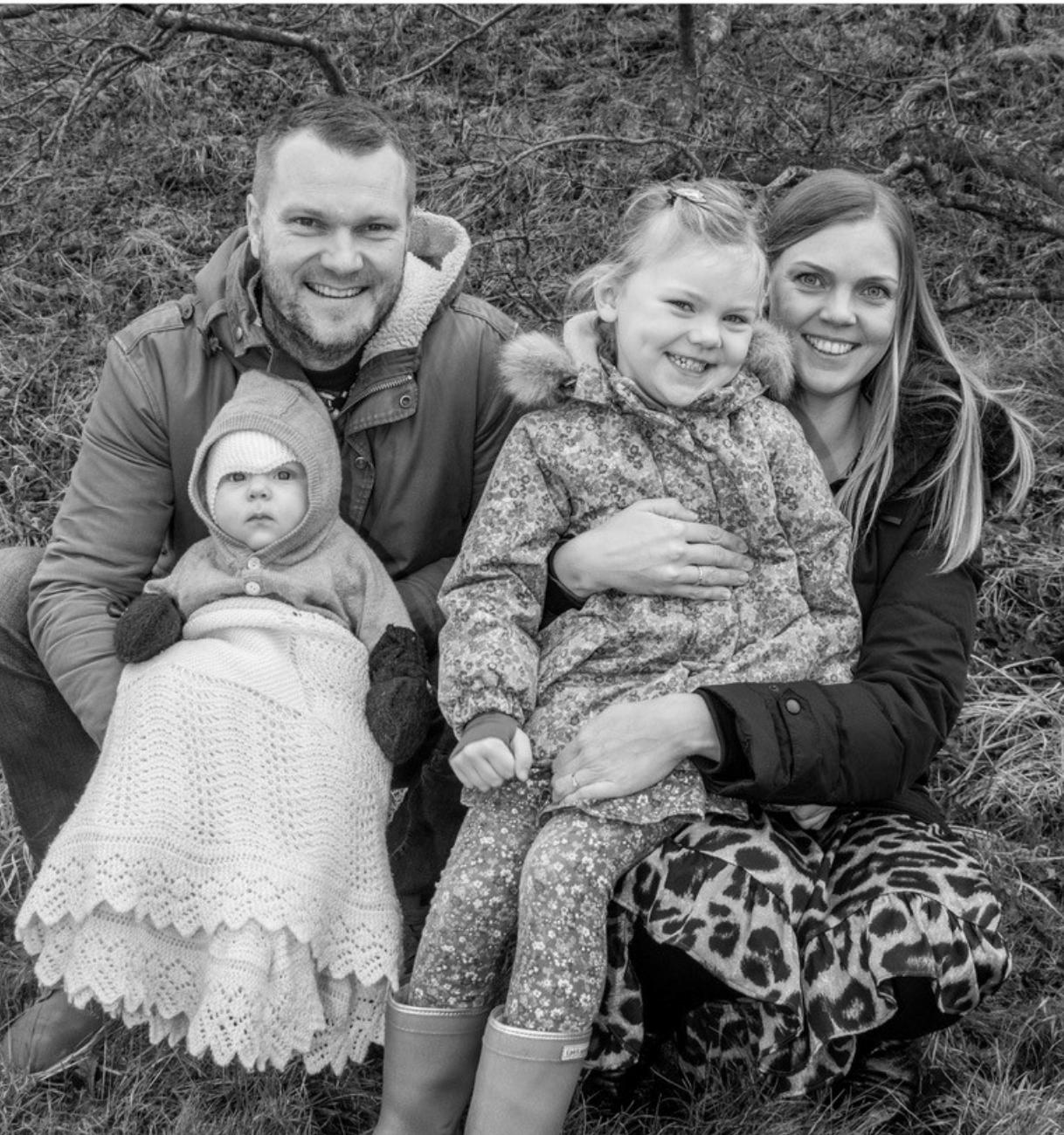 Mia og Henriks familie